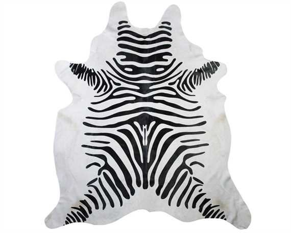 HAIR ON HIDE ZEBRA PRINT  (rug pictured sent) Free Delivery!