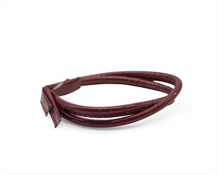 BAG HANDLE LEATHER 8MM X 55CM PATENT RED (PAIR)