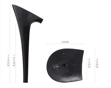 HEEL BLOCK BLACK ABS VIP 130MM (PAIR)