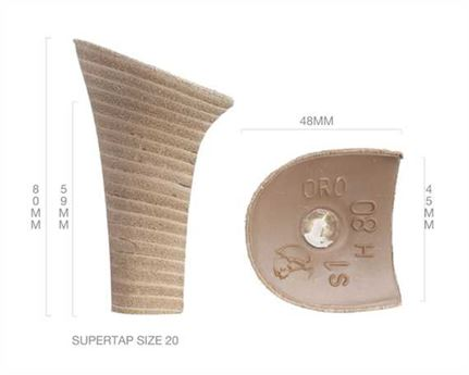 HEEL BLOCK LEATHER COVERED ORO 80MM S1 (PAIR)