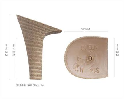 HEEL BLOCK LEATHER COVERED QUEEN 70MM (PAIR)