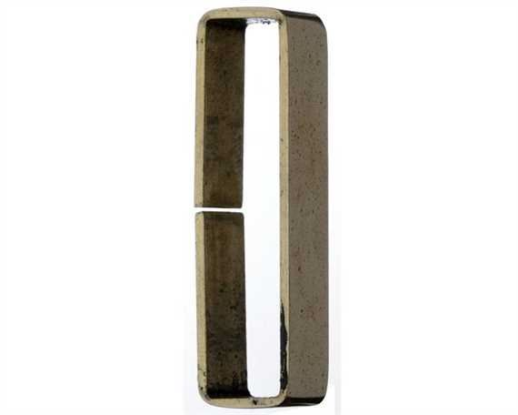 KEEPER LOOP FLAT POLISHED UNWELDED BRASS 15MM