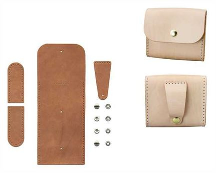 DIY KIT NICK LEATHER CASE VEG TANNED LEATHER