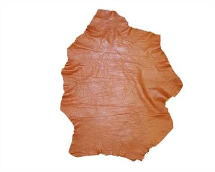 GARMENT SHEEP NAPPA FINISHED 0.6/0.9MM CARAMEL, DARKER LIGHTWEIGHT LEATHER