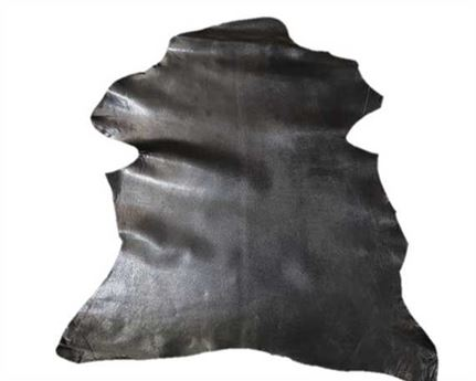 KID SKIN GLAZED BLACK 0.6/0.8MM LEATHER FROM SPAIN