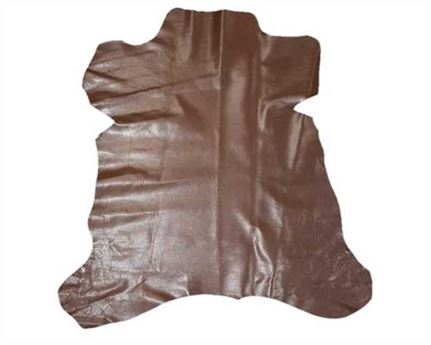 KID SKIN GLAZED BROWN 0.6/0.8MM LEATHER FROM SPAIN