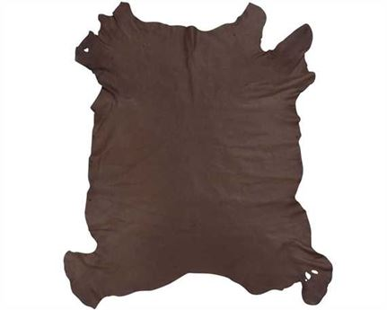 PIG LINING LEATHER 0.7/0.9MM DARK BROWN FULL SKIN FOR BAG AND SHOE LINING