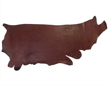 MORGAN OAK VEG GIRTH/SEAT SIDES 2.0MM AUS NUT HEAVY USA STEER HIDE LEATHER