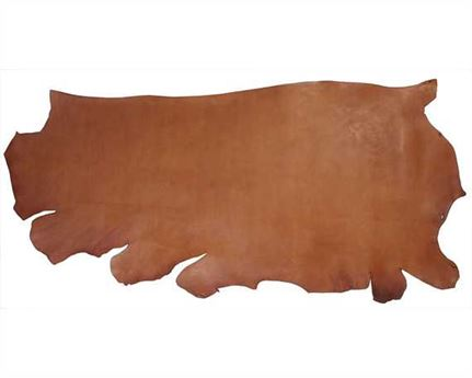 MORGAN OAK VEG GIRTH/SEAT SIDES 2.0MM LT HAVANA HEAVY USA STEER HIDE LEATHER