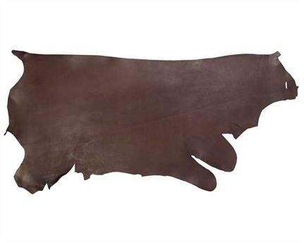 MORGAN OAK SIDES LATIGO 4.0/4.8MM DARK BROWN HEAVY USA STEER HIDE LEATHER