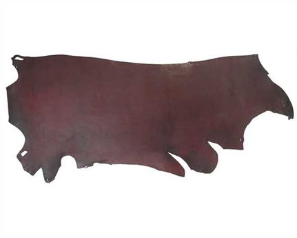 MORGAN OAK SIDES LATIGO 1.6/2.4MM BURGUNDY LIGHT USA STEER HIDE LEATHER