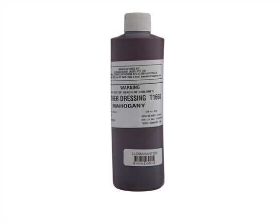 ANTIQUE MAHOGANY LEATHER DRESSING 500 ML