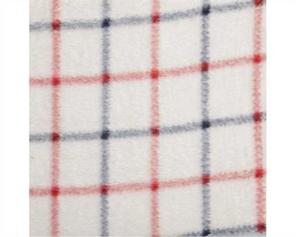 "FABRIC RED/BLUE STRIPE, POLAR ARCTIC ""MINK"" POLY 200CM WIDE"