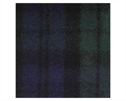FABRIC 80% WOOL RUG TARTAN BLACKWATCH RCC08 183CM PER L/M