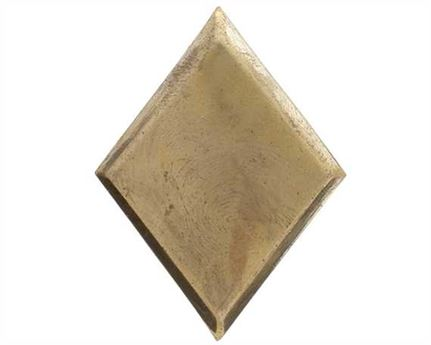 DIAMOND SHAPED ORNAMENTS BRASS 45MM
