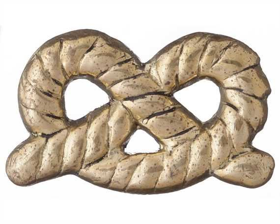 STAFFORDSHIRE KNOT ORNAMENTS BRASS 25MM