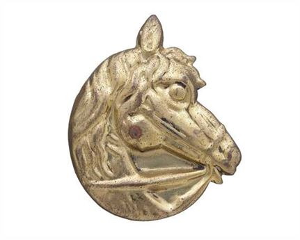 LEAD FILLED ORNAMENTS HORSE HEAD BRASS 25MM