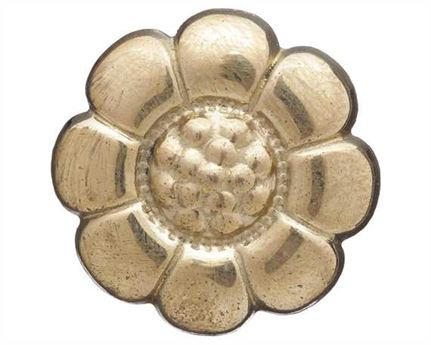 FLOWER SHAPED HARNESS ORNAMENTS BRASS 15MM