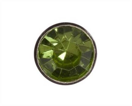 6MM LT GREEN CRYSTAL ORNAMENT.PKT OF 10.