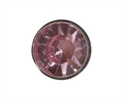 7MM LT PINK CRYSTAL ORNAMENT.PKT OF 10.