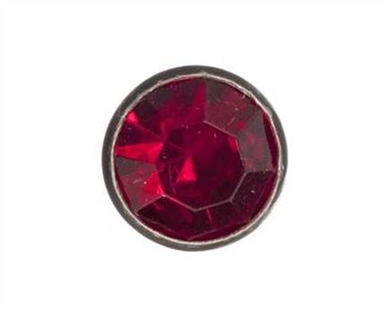 6MM RED CRYSTAL ORNAMENT.PKT OF 10.