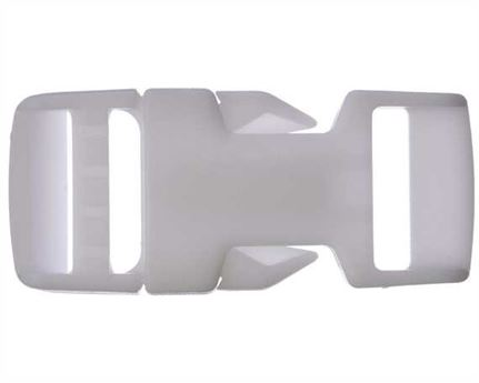 VELCRO® Brand 19MM AC501N SIDE RELEASE BUCKLES WHITE