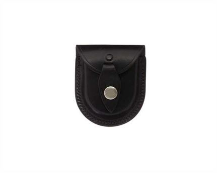 COIN POUCH WITH BELT LOOP LEATHER BLACK