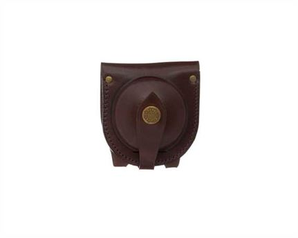 FOB WATCH POUCH WITH BELT LOOP LEATHER BROWN