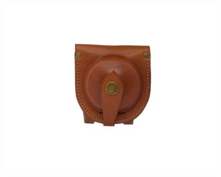 FOB WATCH POUCH WITH BELT LOOP LEATHER TAN