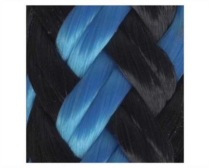 EQUI-TUFF ROPE DOUBLE BRAID BLACK/BLUE 8MM