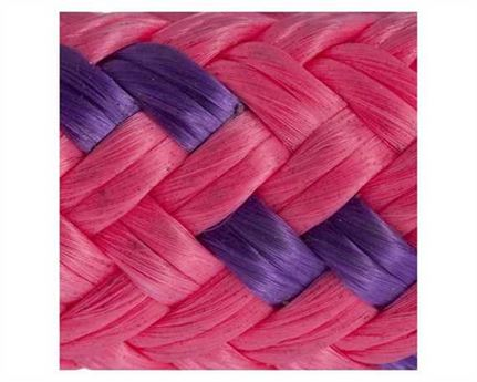 14MM DOUBLE BRAID MARINE ROPE  PINK WITH FLECK