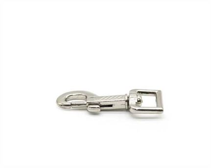 SNAP SWIVEL SQUARE EYE NP GROOVED 16MM