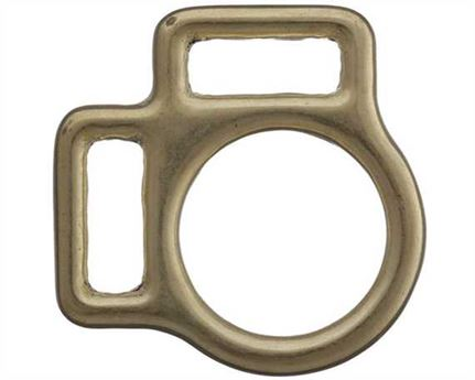 SQUARE HALTER 2 LOOP ENGLISH BRASS 16MM