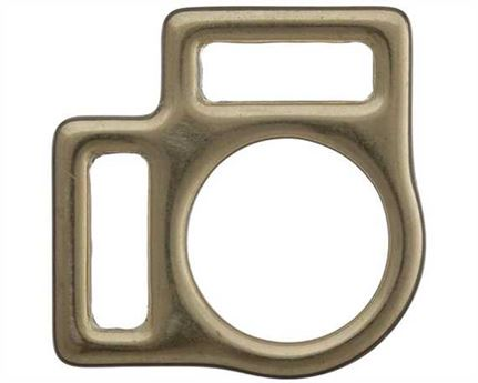 SQUARE HALTER 2 LOOP ENGLISH BRASS 18MM
