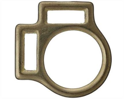 SQUARE HALTER 2 LOOP BRASS 20MM
