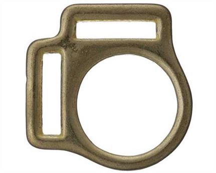 SQUARE HALTER 2 LOOP BRASS 25MM