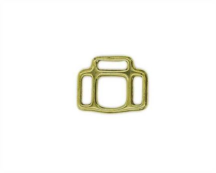 SQUARE HALTER 3 LOOP ENGLISH BRASS 16MM