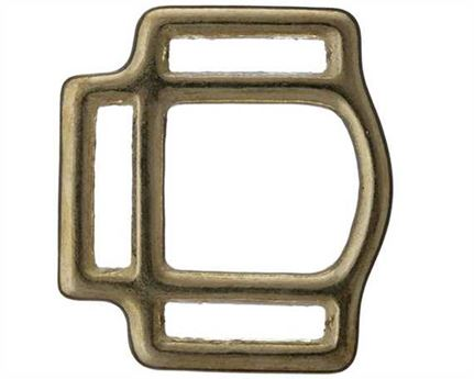 SQUARE HALTER 3 LOOP BRASS 25MM