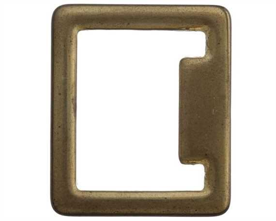 SQUARE STOP ENGLISH BRASS 25MM X 30MM
