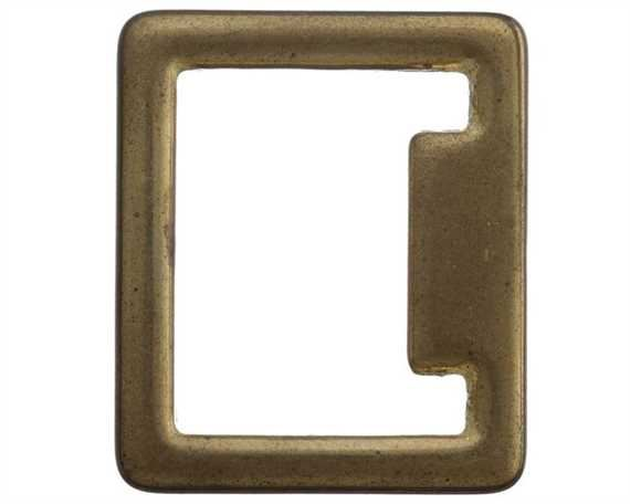 SQUARE STOP ENGLISH BRASS 32MM X 38MM