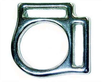 SQUARE HALTER 2 LOOP ENGLISH (NICKEL PLATE ON BRASS) 16MM