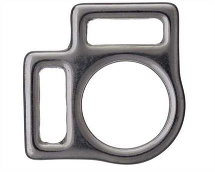 SQUARE HALTER 2 LOOP ENGLISH NICKEL PLATE 18MM