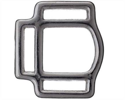 SQUARE HALTER 3 LOOP NICKEL PLATE 25MM