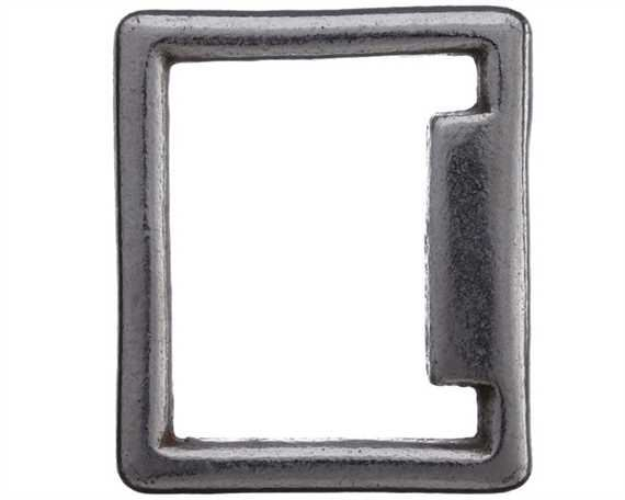 SQUARE STOP ENGLISH NICKEL PLATE 16MM X 22MM
