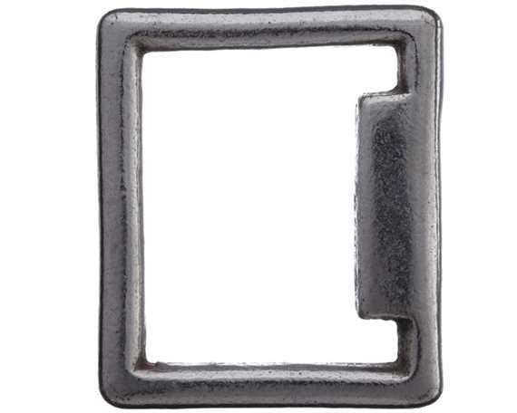 SQUARE STOP NICKEL PLATE 20MM X 25MM