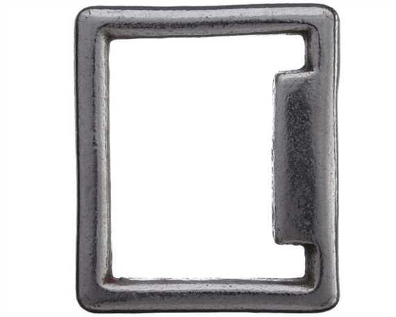 SQUARE STOP ENGLISH NICKEL PLATE 32MM X 38MM