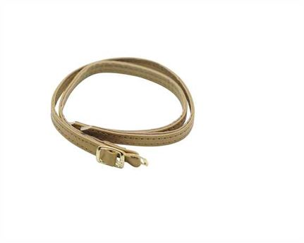 STRAP FOR SHOE BUCKLE GILT BEIGE 7MM