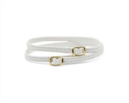 STRAP FOR SHOE BUCKLE GILT WHITE 7MM