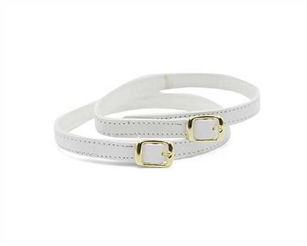 STRAP FOR SHOE BUCKLE GILT WHITE 10MM