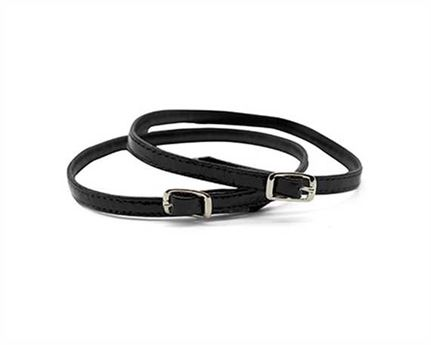 STRAP FOR SHOE BUCKLE NICKEL PLATE PATENT BLACK 7MM